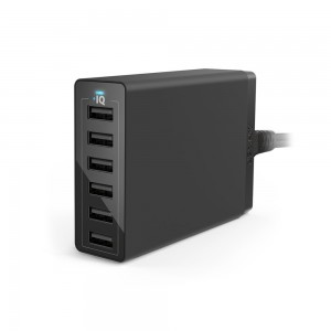 Anker 60W 6-port USB Charger (Black)