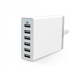 Anker 60W 6-port USB Charger (White)